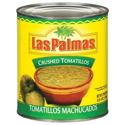 Las Palmas Crushed Tomatillos 102 Oz Can