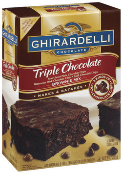 Ghirardelli Triple Chocolate 2.26kg Brownie Mix 4 Pk Box