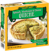 Trader Joe's® Spinach, Mushroom & Cheese Quiche 6 oz. Box