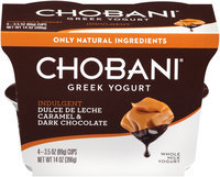 Chobani® Indulgent Dulce de Leche Caramel & Dark Chocolate Whole Milk Greek Yogurt