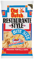 Old Dutch Restaurante Style Restaurante Style Bite Size Tortilla Chips