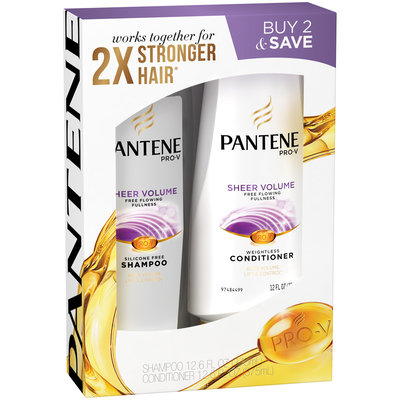 Pantene Pro-V Sheer Volume Shampoo And Conditioner Dual Pack, 24.6 Oz