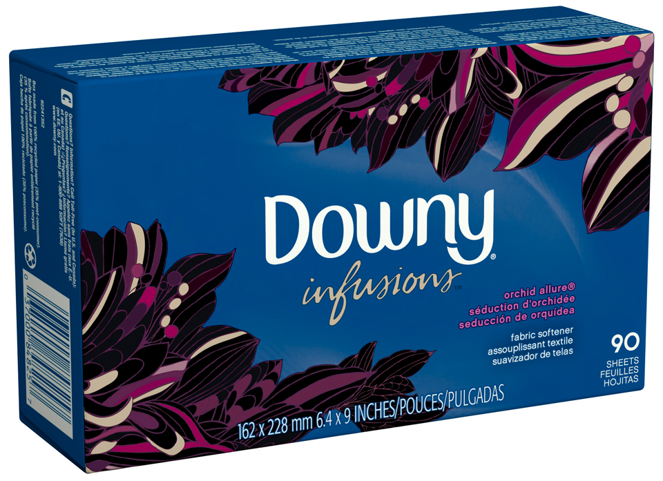Downy® Ultra Infusions Orchid Allurey Fabric Softener Sheets 90 ct Box
