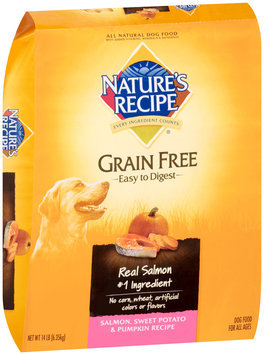 Nature's Recipe® Salmon, Sweet Potato & Pumpkin Grain Free Dog Food 14 lb. Bag