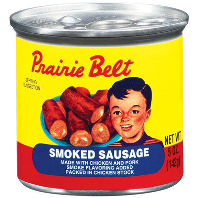 Prairie Belt Smoked Sausage 5 Oz Pull-Top Can