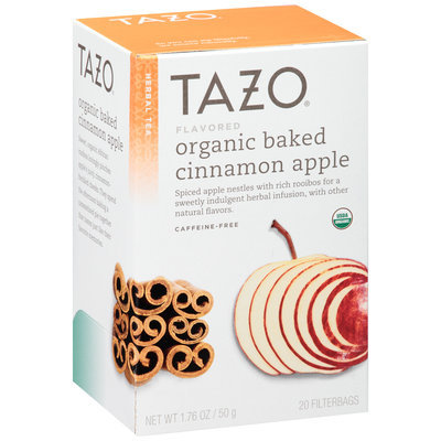 Tazo® Organic Baked Cinnamon Apple Caffeine-Free Herbal Tea Tea Bags 20 ct. Box