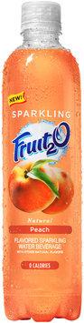Fruit2O® Natural Peach Flavored Sparkling Water Beverage 17 fl. oz. Plastic Bottle