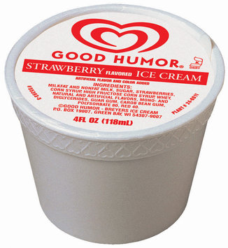 Good Humor Ice Cream Cup Strawberry Single Serve Novelty 4 Oz Cup
