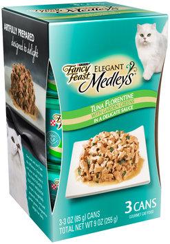 Purina Fancy Feast Elegant Medley's Tuna Florentine Cat Food 3-3 oz. Cans