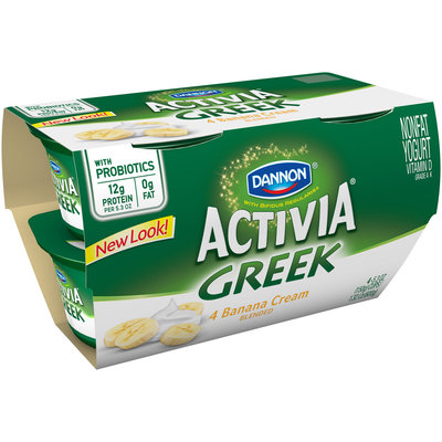 Dannon Activia Greek Banana Cream Nonfat Yogurt