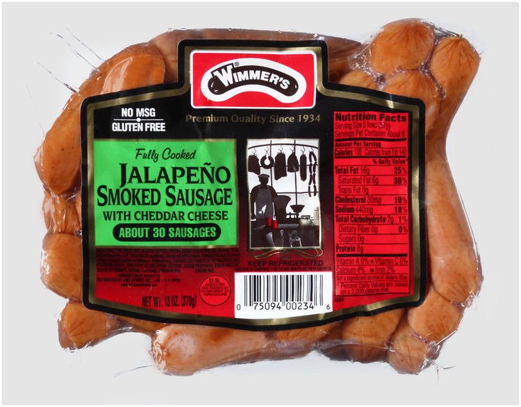 Wimmer's® Jalapeno Smoked Sausage with Cheddar Cheese