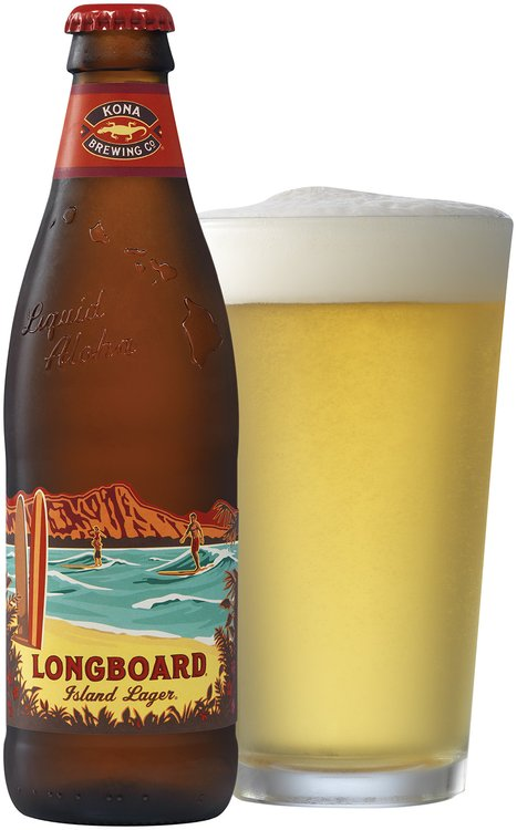 Kona Brewing Co.® Hang 10 Longboard® Island Lager® 12 fl. oz. Bottle