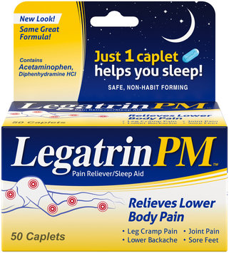 Legatrin PM™ Pain Reliever/Sleep Aid Caplets 50 ct Box
