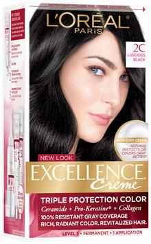 L'Oréal® Paris Excellence® Creme Triple Protection Color 2C Luscious Black Hair Color Kit Box