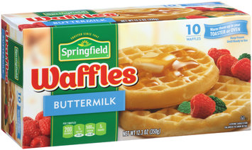 Springfield Buttermilk Frozen Waffles 12.3 oz. Box