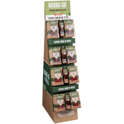 Old Wisconsin® Natural Cut™ Hardwood-Smoked Meat Snacks 6 oz. Pack Display