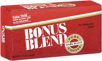 Bonus Blend Pure Dark Roast Extra Yield Ground Coffee 13 Oz Vac Bag