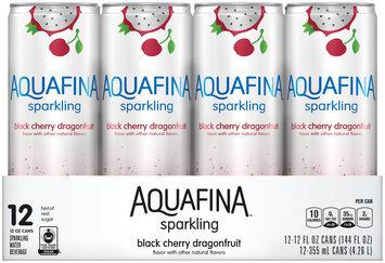 Aquafina™ Sparkling Black Cherry Dragonfruit Water 12-12 fl. oz. Cans
