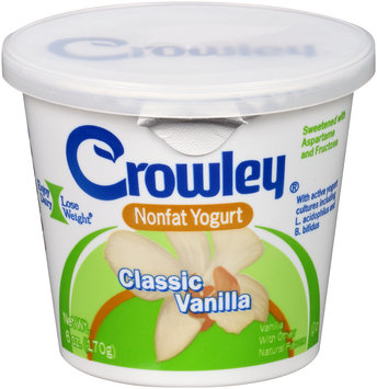 Crowley® Classic Vanilla Nonfat Yogurt 6 oz. Cup