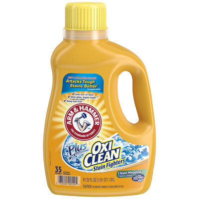Arm & Hammer™ Clean Meadow Liquid Laundry Detergent Plus OxiClean™ Stain Fighters 61.25 Plastic Jug