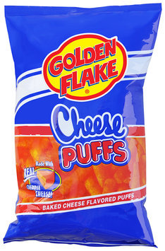 Golden Flake® Cheese Puffs Baked Cheese Flavored Puffs Bag
