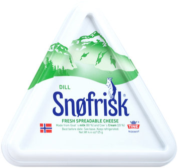 Snofrisk® Dill Fresh Spreadable Cheese 4.4 oz. Container