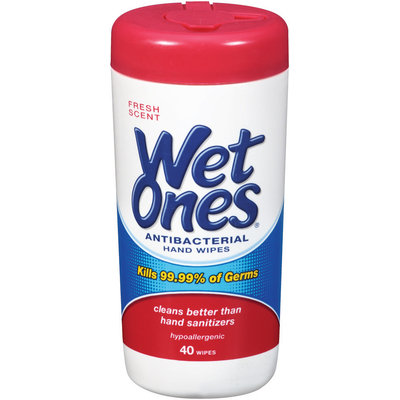 Wet Ones® Fresh Scent Antibacterial Hand Wipes 40 ct