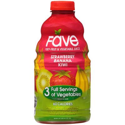 Fave® Strawberry Banana Kiwi 100% Fruit & Vegetable Juice 46 fl. oz. Bottle