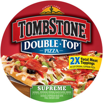 TOMBSTONE Double Top Supreme Pizza 25.9 oz.