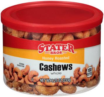 Stater Bros.® Whole Honey Roasted Cashews 8.25 oz. Canister