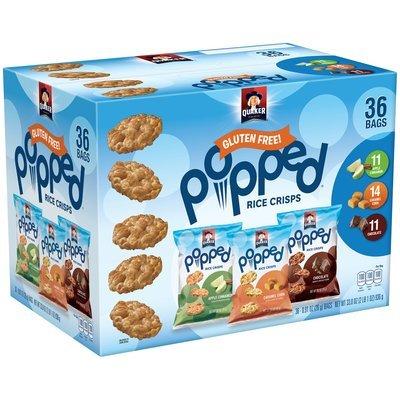 Quaker® Popped® Rice Crisps 36-0.91 oz. Box