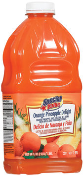 Special Value Orange Pineapple Delight Beverage 64 Fl Oz Plastic Bottle