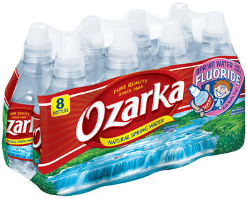 Ozarka Natural Spring Water with Added Fluoride 8-8 fl. oz. Plastic Bottles