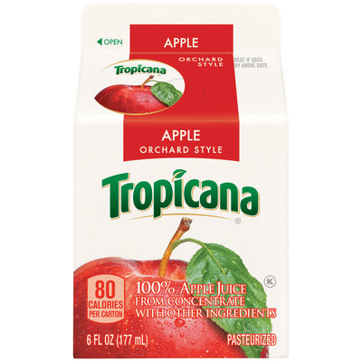 Pure Premium Apple Juice 6 Oz Carton