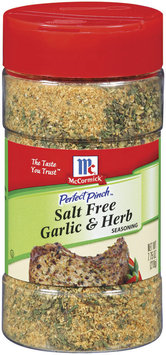 Perfect Pinch Salt Free Garlic & Herb Seasoning 7.75 Oz Shaker
