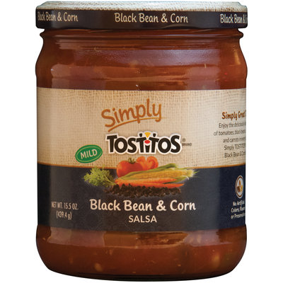 Simply Tostitos® Mild Black Bean & Corn Salsa 15.5 oz. Jar