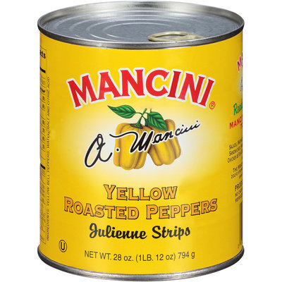 Mancini® Yellow Roasted Peppers 28 oz. Pull-Top Can