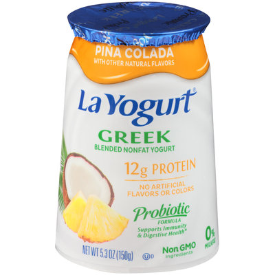 La Yogurt® Pina Colada Greek Blended Nonfat Yogurt 5.3 oz. Cup