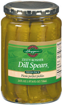 Haggen Dill Spears Zesty Fresh Pack Pickles 24 Fl Oz Jar