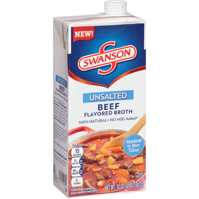 Campbell's Swanson® Unsalted Beef Flavored Broth