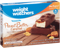 Weight Watchers Snack Size Peanut Butter Caramel Ice Cream Candy Bars 10 ct Box