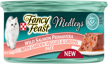 Purina Fancy Feast Medleys Wild Salmon Primavera Pate Cat Food 3 oz. Can