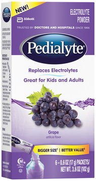 Pedialyte® Grape Electrolyte Powder 6-0.6 oz. Packets