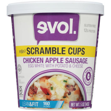 EVOL Chicken Apple Sausage Scramble Cups 5 oz. Cup