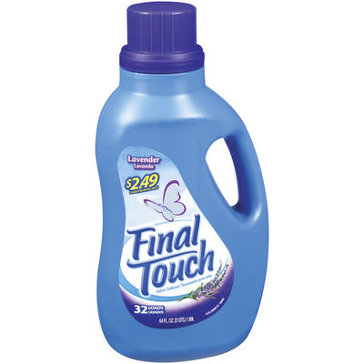 Final Touch Liquid Lavender Scent 32 Loads W/Price Point Fabric Softener 64 Fl Oz Jug