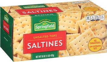 Springfield® Unsalted Tops Saltines 16 oz. Box