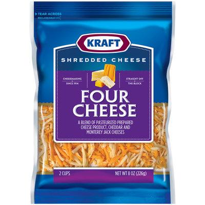 Kraft Four Cheese Shredded Cheese 8 oz. Bag