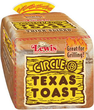 Circle B Texas Toast Thick Sliced White Enriched Bread 24 oz. Loaf
