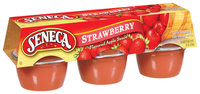 Seneca Strawberry 4 Oz Apple Sauce 6 Ct Carded Pk