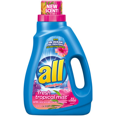 all® Fresh Tropical Mist™ Laundry Detergent 50 fl. oz. Bottle